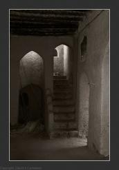 Abandoned village, Birkat al Mawz B&W