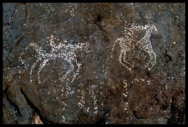 Rock art - horse.