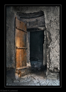 Door in abandoned room