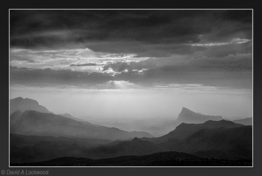 Rising mist - Jebel Shams