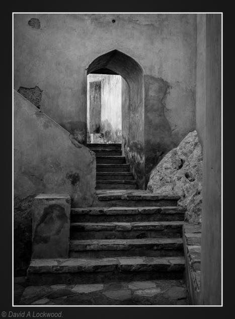Nakhal Fort- steps