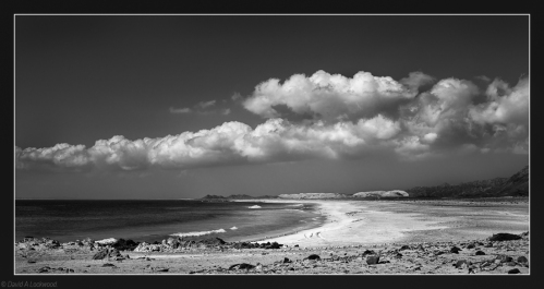 Masirah Beach in B&W