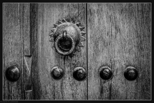 Door with studs