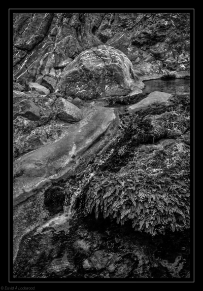 Clear Water stream B&W conversion