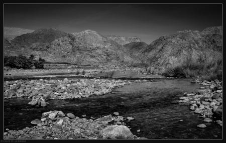 Stream - Wadi Tayeen B&W