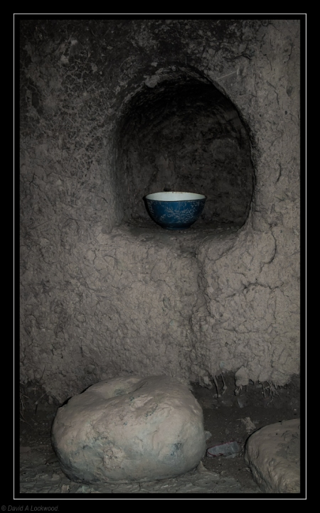Forgotten bowl in abandoned building