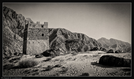 Beach watch tower - Khasab