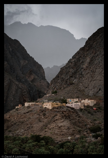 Rain-swept Jebel Village