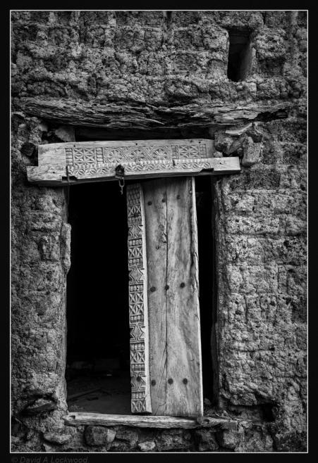 Remains of a fine door