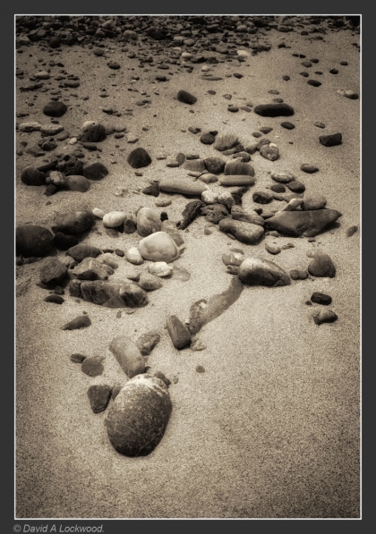 Stones on the beach.