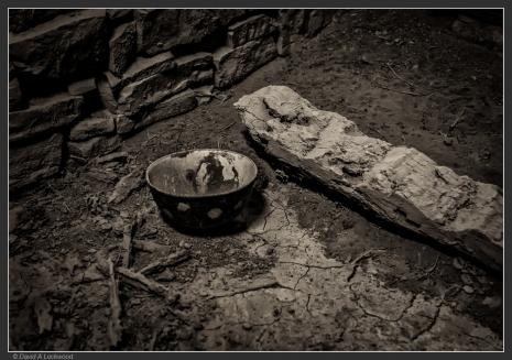 Stick & bowl.