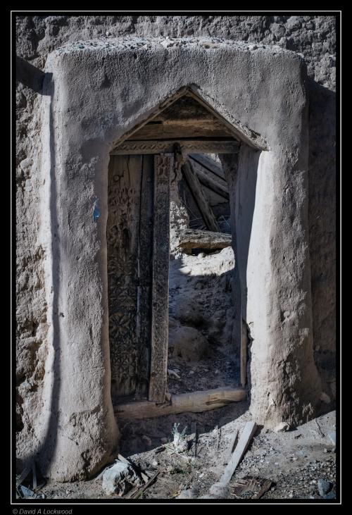 Dilapidated door.