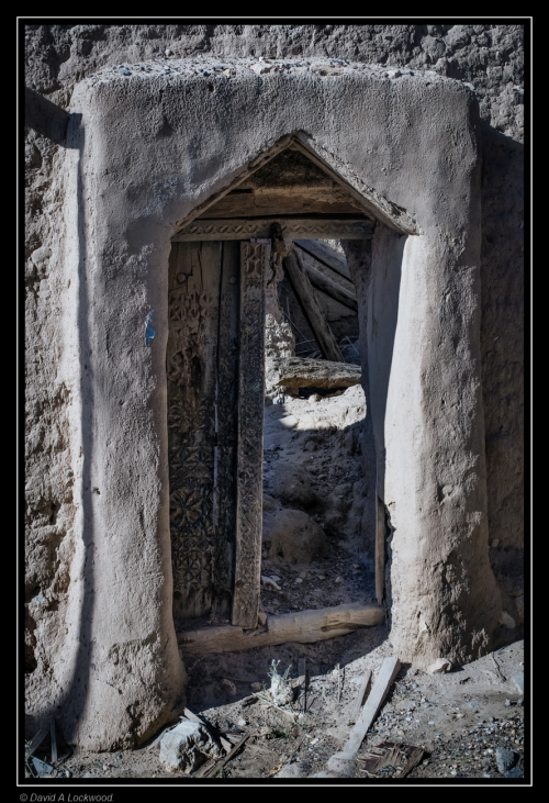 Dilapidated door.