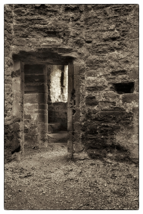 Doorway with steps - Ludlow castle.