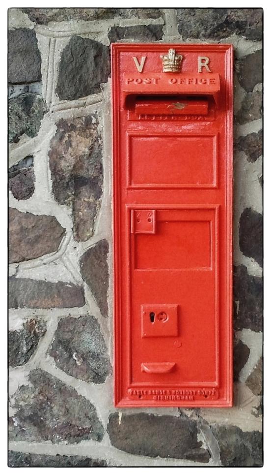V.R Regina wall postbox.